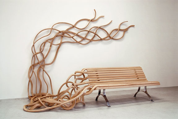 Spaghetti Wall Bench
