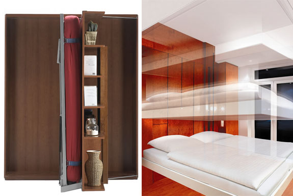 New ultra sleek murphy beds via spotcoolstuff Modern murphy bed