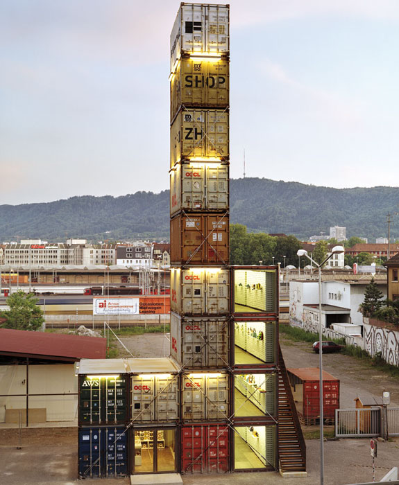 Cool Container Houses: Freitag Shop, Zurich