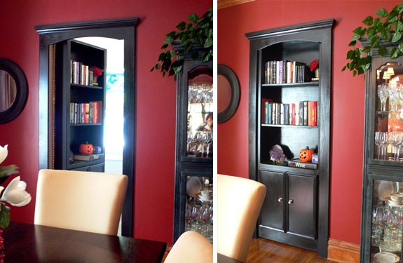 Pdf diy secret bookshelf door design download round end for Secret design