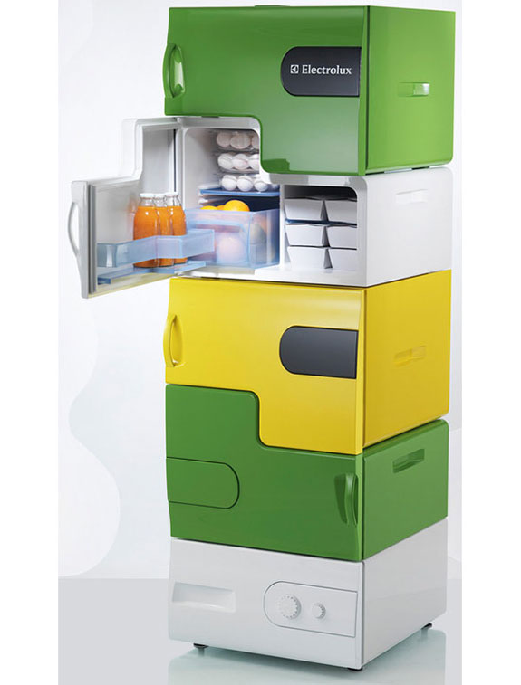 The Modular Electrolux Flatshare Fridge
