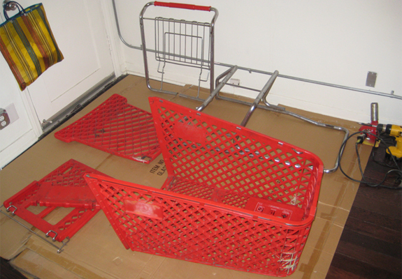 Design Blog: Mercado Negro Shopping Cart Furniture