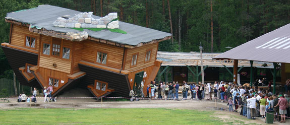 Design Blog: Upside Down House, Szymbark, Poland