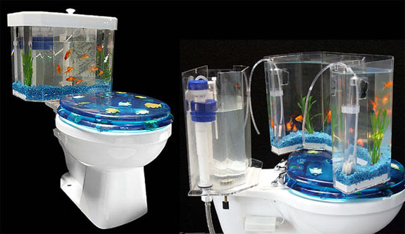 Cool Aquariums: Fish & Flush Toilet