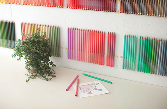 Interior Design Wall Art: 500 Colored Pencils of Felissimo