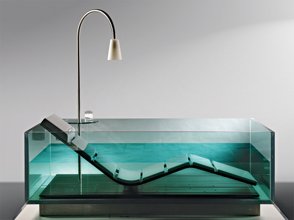 Clear Bathtubs: Hoesch Water Lounge