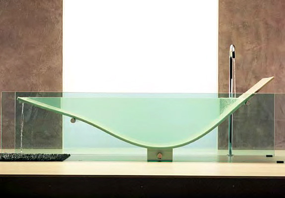 Clear Bathtubs: Omvivo Le Cob Bathtub