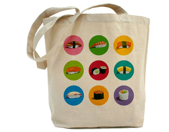 Non-Edible Sushi Products: Tote Bag