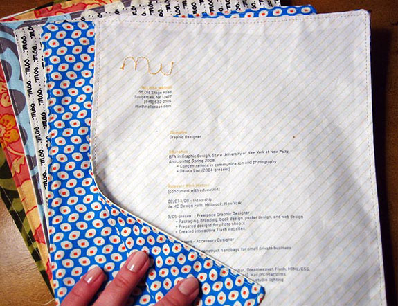 Amazing Resumes: Fabric