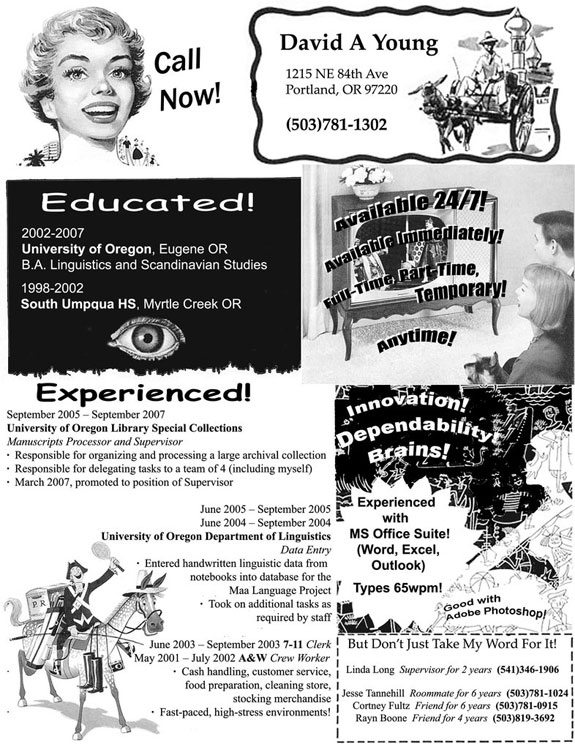 Amazing Resumes: Retro