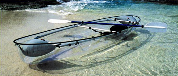 Outdoors: Invisible See-Through Canoe