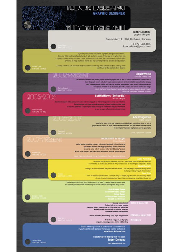 Cool and Creative Resumes: Card Set