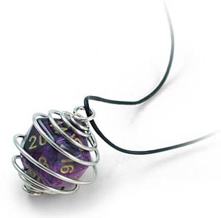 Geeky Jewelry: d20 Spiral Necklace