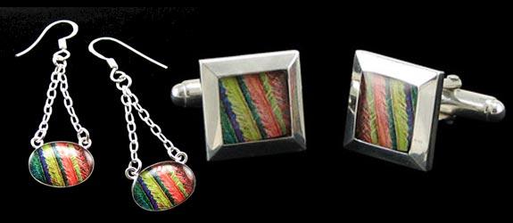 Geek Jewelry: Molecular Keychain & Cufflinks