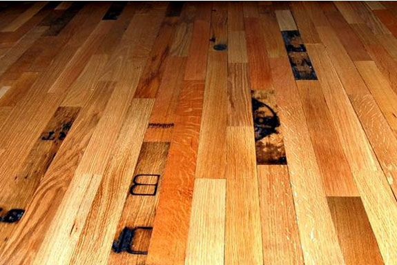 Recycled Flooring: Reclaimed Whiskey Barrels
