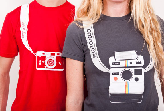 Cool Gifts for Photographers: Camera Strap Retro T-Shirt
