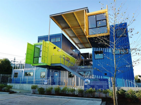 Shipping Container Office Building 575 x 431