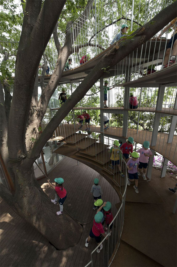 Cool Architecture: Ring Around a Tree Playground, Japan