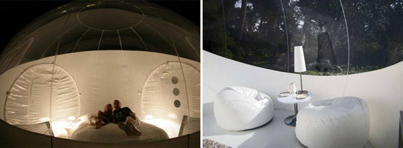 bubble room Bubble Tree: Glorified Tents for Glamping