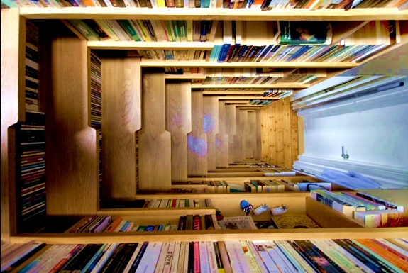 2 cool london bookshelf staircases - Cool Architecture Design