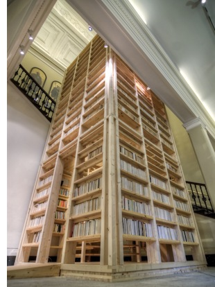 Staircase Bookshelf : Cool Interior Design Bookshelf Staircases Spot