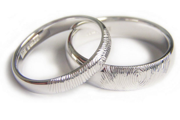 Unusual Wedding Rings Fingerprint Bands Spot Cool Stuff Design