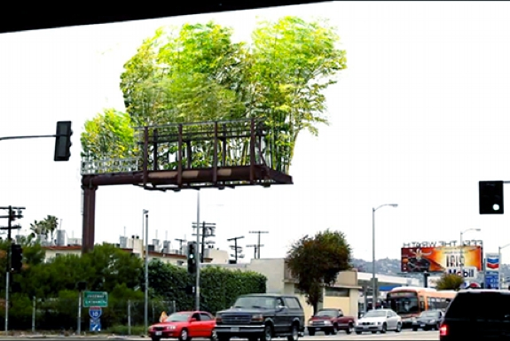 Converting Billboards Into Gardens
