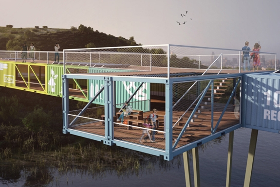 The World&#8217;s First Shipping Container Bridge