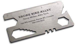 Useful, Unusual Business Cards: Bike Tool