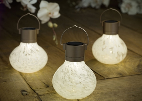 Solar Powered Glass Lanterns