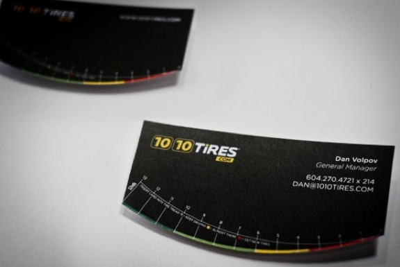 Useful, Unusual Business Cards: Tire Tread Checker