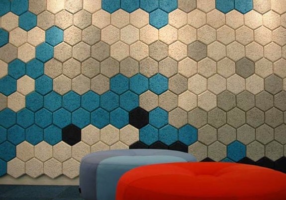Sound Proofing Decor: Träullit Hexagon Tiles
