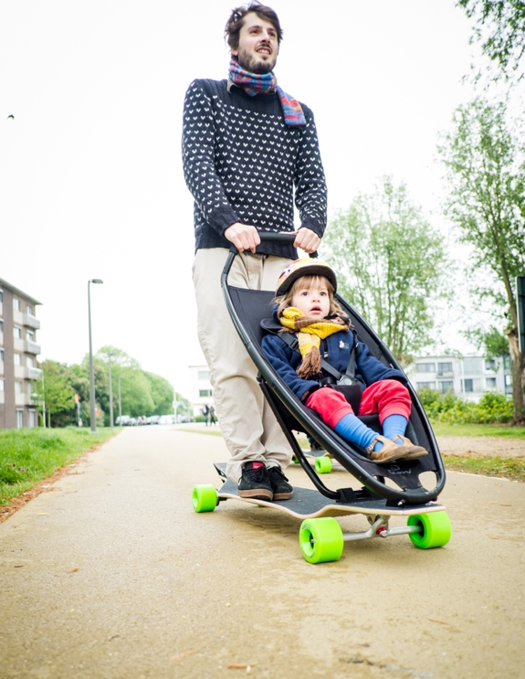 Review of the Longboard Stroller: Skateboard plus stroller