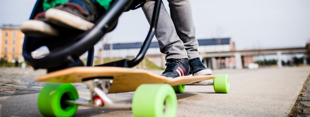 cool baby gear review of skateboard stroller hybrids spot cool