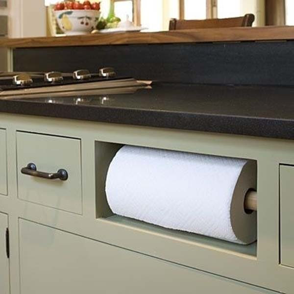 kitchen organization ideas faux paper towel holder - Kitchen Towel Bars Ideas