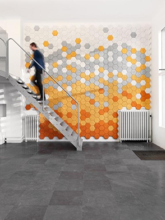 Sound Proofing Decor: Träullit Hexagon Tiles
