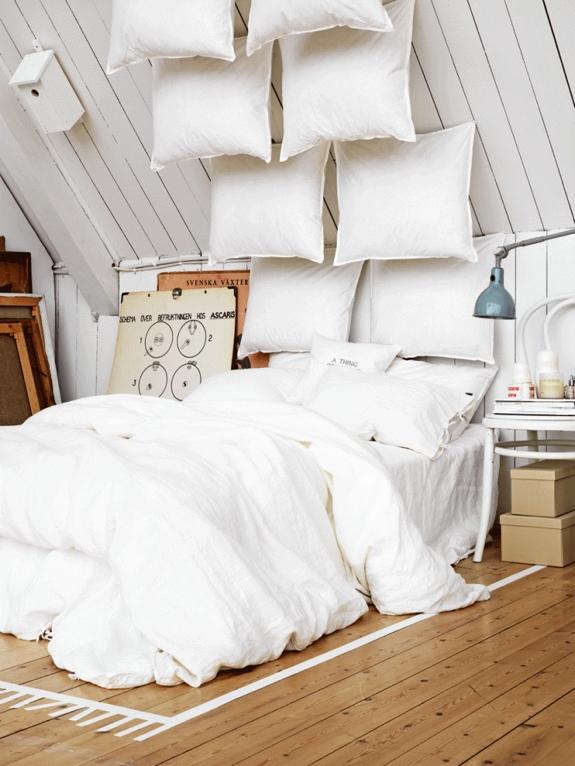 Creative Soundproofing decor: pillows